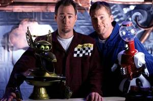 Crow, Joel, Mike, Tom Servo—from Soultaker.